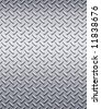 enormous sheet of diamond plate metal great for sign or bill boards - stock photo