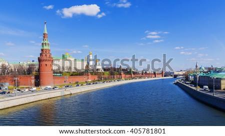 Ensemble of Moscow Kremlin, Russia - stock photo