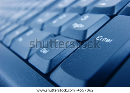 Enter button on keyboard
