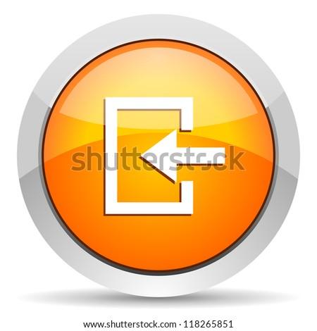 enter icon - stock photo