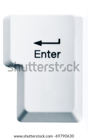 Enter key isolated on white background - stock photo