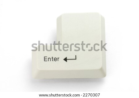 enter key with white background