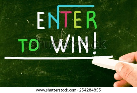 enter to win - stock photo