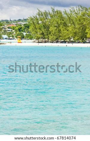 Enterprise Beach, Barbados, Caribbean - stock photo