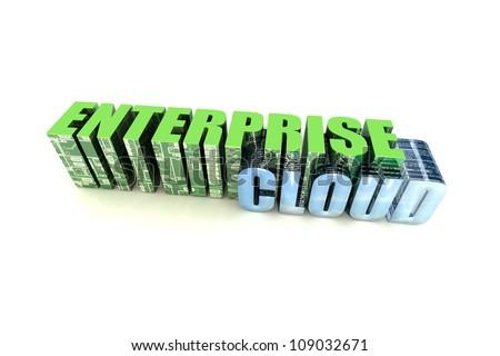 Enterprise Cloud - stock photo