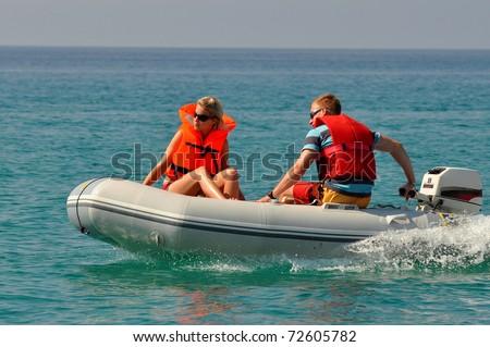entertaining cruise - stock photo