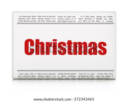 Entertainment, concept: newspaper headline Christmas - stock photo