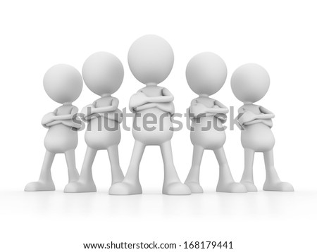Enthusiastic Team - stock photo