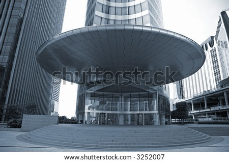 Entrance corporate office building - La Defense, Paris.