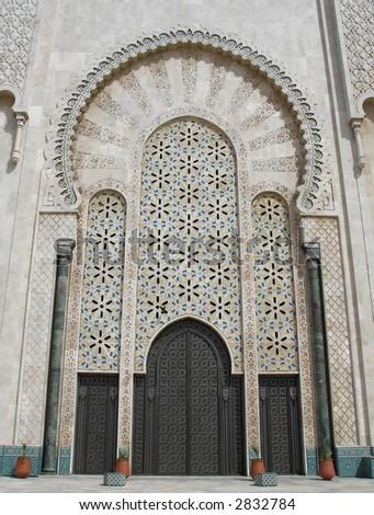 Entrance door King Hassan II mosque Casablanca Morocco & Entrance Door King Hassan Ii Mosque Stock Photo 2832784 - Shutterstock