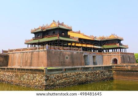 Entrance gate, Forbidden City, Hue,Vietnam