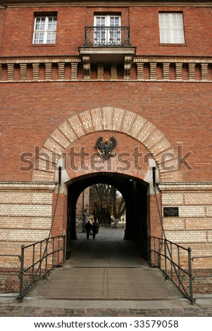 Entrance Gate of the Spandau Citadel, Berlin, Germany - stock photo