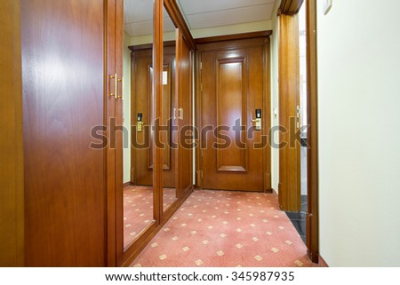 Entrance hall in a hotel room