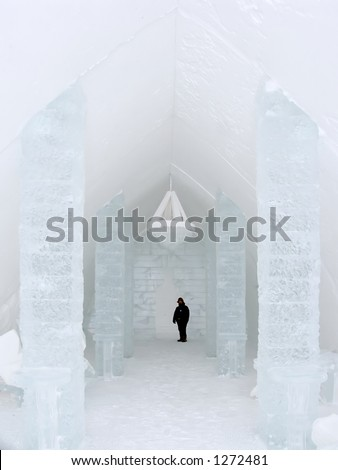 Entrance hall, The Ice Hotel, Quebec, Canada