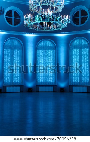 Entrance Hall with art back-light. - stock photo