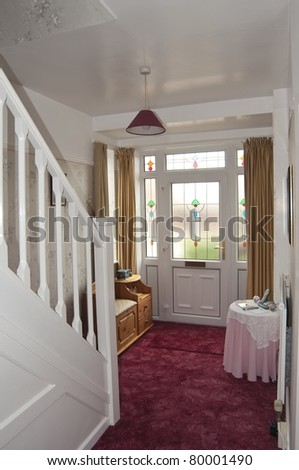 Entrance hallway of a house - stock photo