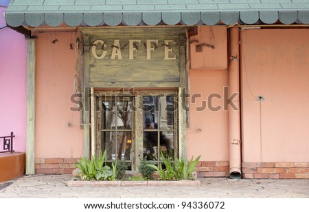 Entrance of a Coffee bar in Odessa