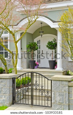 Entrance of a house in Vancouver, Canada. - stock photo