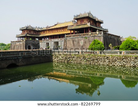 Entrance of Citadel, Hue, Vietnam - stock photo