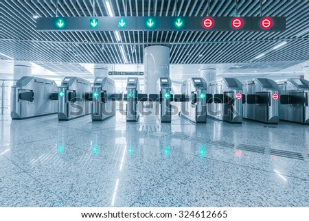 Entrance of metro railway station for cripple. - stock photo