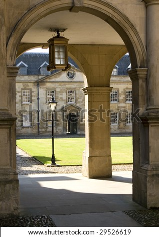 Entrance of Peterhouse, a college of Cambridge University, England