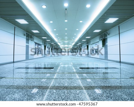 Entrance of subway - stock photo