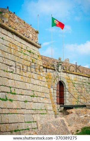 Entrance of the Castelo do Queijo or Cheese Castle or Forte Francisco Xavier in Porto. - stock photo