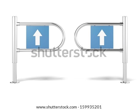 entrance sign in a mart - stock photo