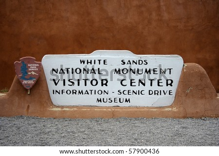 Entrance sign, White Sands National Monument, New Mexico