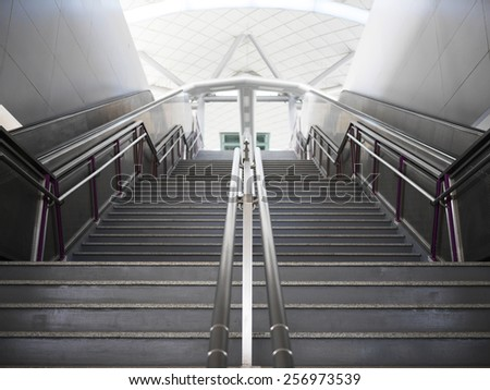 Entrance Stair in Bangkok Metro Station - stock photo
