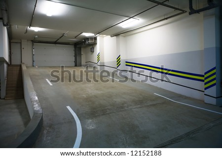 Entrance to a modern underground car park
