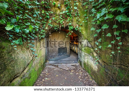 Entrance to a WInery, Napa Valley, California, USA - stock photo
