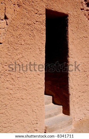 Entrance to Adobe Ruins at Casa Grande National Monument in Arizona - stock photo