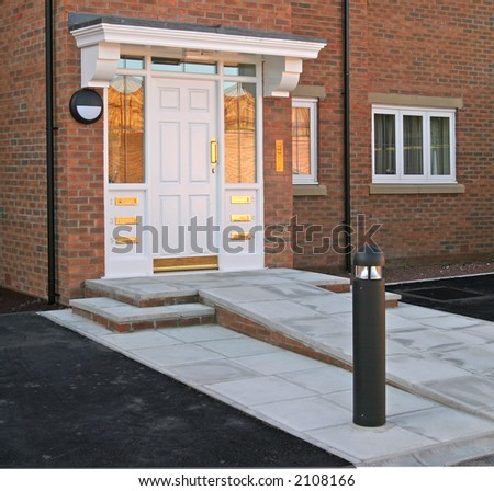 Entrance to apartments with ramp