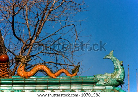 Entrance to Chinatown in San Francisco California - stock photo
