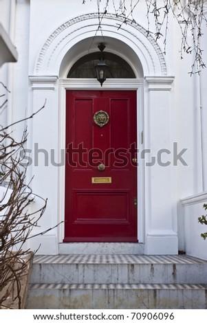 Entrance to English house - stock photo