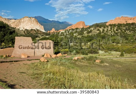 Entrance to Garden of the Gods Park, a registered National Natural Landmark in Colorado Springs, Colorado