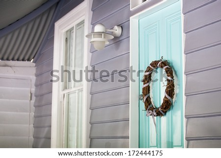 entrance to home  - stock photo