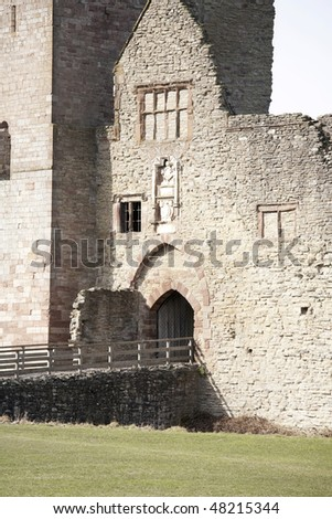 entrance to main tower of Ludlow castle ruins