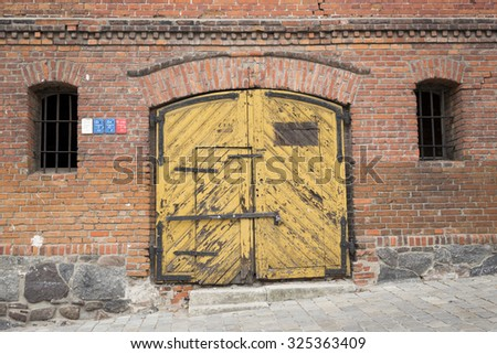 Entrance to old abandoned warehouse