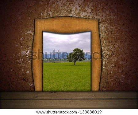 entrance to paradise - stock photo