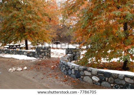 Entrance park picnic area oak glen stock photo 7786705 for Oak glen park