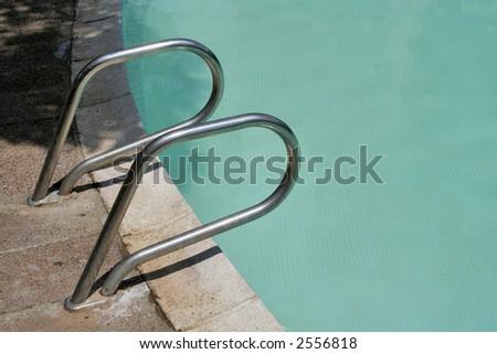 Entrance to pool - stock photo