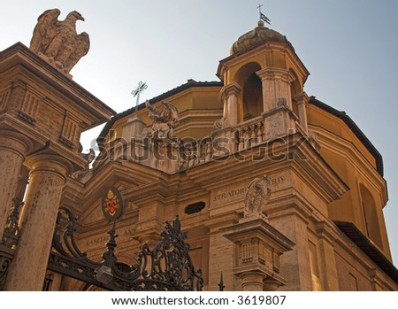 Entrance To The Vatican, Rome, Italy - stock photo
