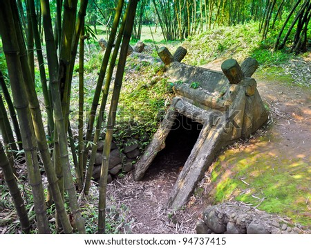 Entrance to Viet Cong Underground Bomb Shelter Used During B52 Carpet Bombing - Quang Tri, Vietnam