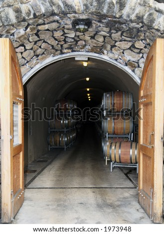 Entrance to wine cellar