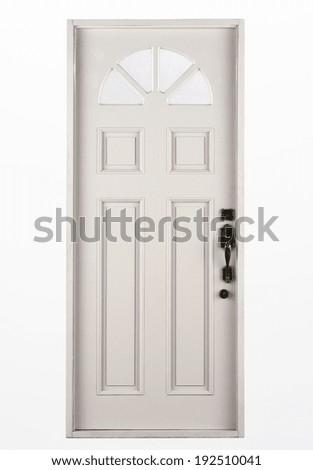 Entrance wooden door - stock photo