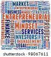 Entrepreneurial  Mindset in word collage - stock photo
