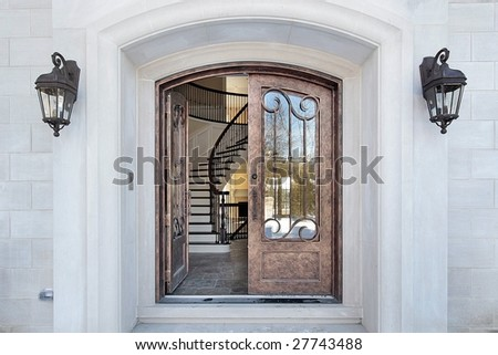 Entry and doorway to luxury home