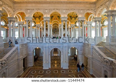 Entry Hall of the Library of Congress, Washington  DC, United States of America